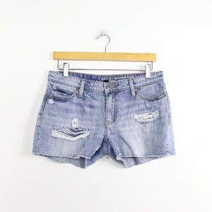 Gap sexy boyfriend short distressed raw hem boho